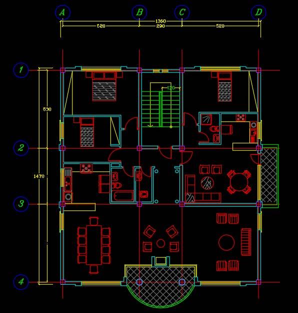 نقشه ساختمان 200 متری