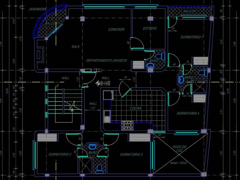 نقشه ساختمان مسکونی 200 متری